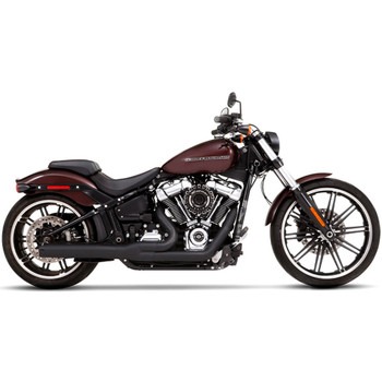 Rinehart 2-into-1 Exhaust for 2018-Up Harley Softail - Black/Black