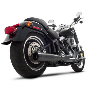 Rinehart 2-into-1 Exhaust for 1987-2017 Harley Softail - Black/Black