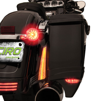 Ciro Filler Panel Accent Lights for 2014-2019 Harley Touring - Black