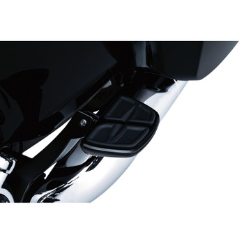 Kuryakyn Kinetic Mini Boards Foot Pegs for Harley - Gloss Black