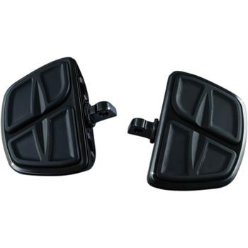Kuryakyn Kinetic Mini Boards Foot Pegs for Harley - Gloss Black