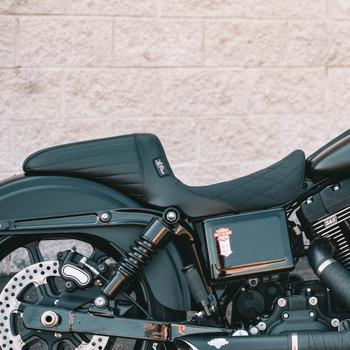 LePera Kickflip Seat for 2006-2017 Harley Dyna - Diamond Gripp Tape