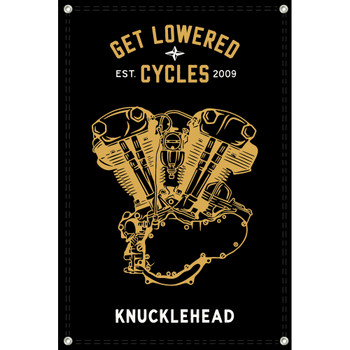 Get Lowered Cycles Harley Knucklehead Shop Banner