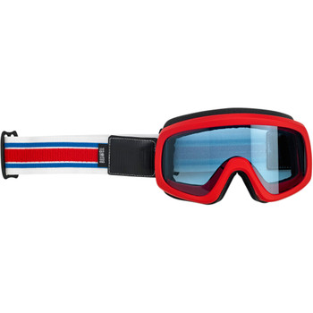 Biltwell Overland 2.0 Racer Goggle - Red/White/Blue
