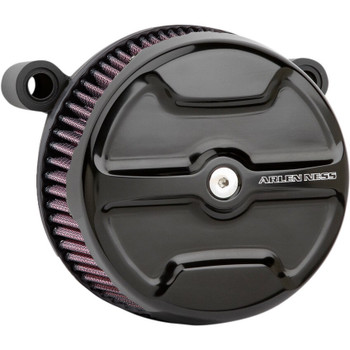 Arlen Ness Knuckle Big Sucker Air Cleaner Kit for 1999-2017 Harley Twin Cam Cable Throttle - Black