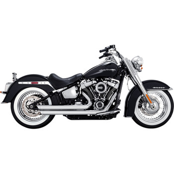 Vance & Hines Big Shots Staggered Exhaust for 2018-2019 Harley Softail - Chrome