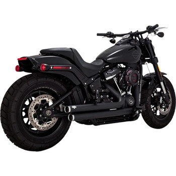 Vance & Hines Big Shots Staggered Exhaust for 2018-2019 Harley Softail - Black