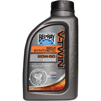 Bel-Ray V-Twin Semi-Synthetic 20W50 Motor Oil - 1 Liter
