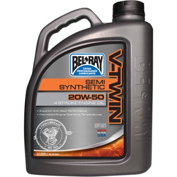 Bel-Ray V-Twin Semi-Synthetic 20W50 Motor Oil - 4 Liter