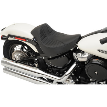 Drag Specialties EZ-On Solo Seat for 2018-2019 Harley Softail* - Scorpion Stitch
