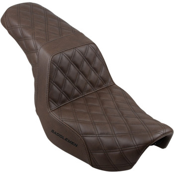Saddlemen Step Up Full LS Seat for 2006-2017 Harley Dyna - Brown