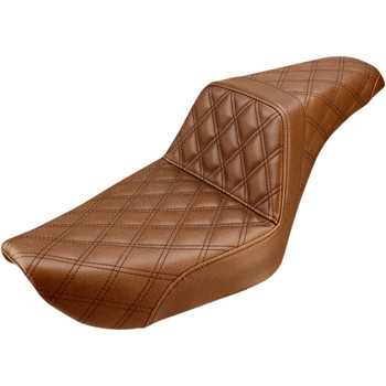 Saddlemen Full LS Step Up Seat for 1996-2003 Harley Dyna - Brown