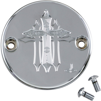 Carl Brouhard Cross Series Points Cover for Harley M8 - Chrome