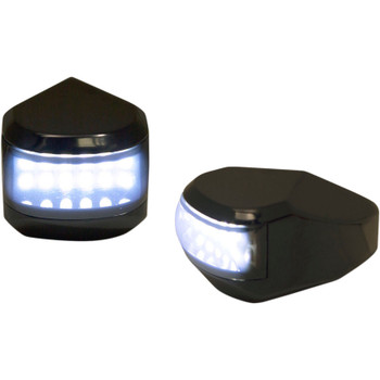 Alloy Art LED Driving/Turn Signal Lights for Harley Touring - Black