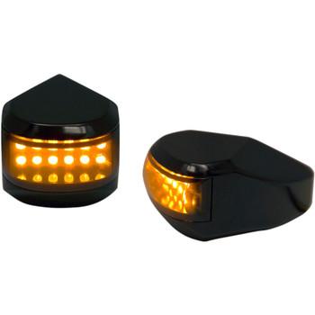 Alloy Art LED Driving/Turn Signal Lights for Harley Touring - Black