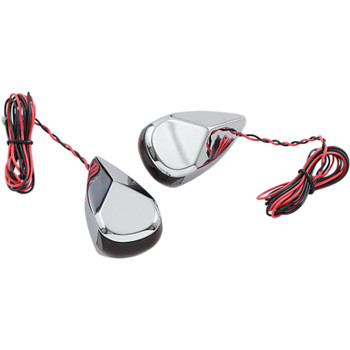 Alloy Art LED Turn Signal Lights for Harley Touring - Chrome
