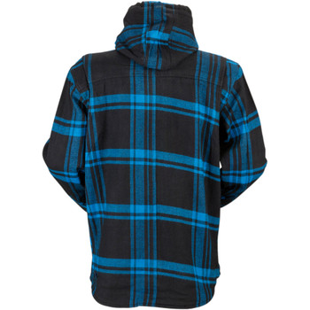 Z1R Timber Flannel Hooded Shirt - Black/Blue