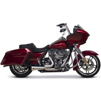Two Brothers Racing 2-into-1 Slash Cut Shorty Exhaust for 2007-2016 Harley Touring - Stainless