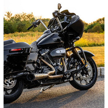 Two Brothers Racing 2-into-1 Shorty Turnout Exhaust for 2017-2020 Harley Touring - Stainless