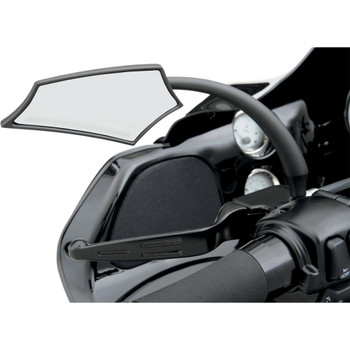 Russ Wernimont 5 Arc Mirrors for Harley - Black