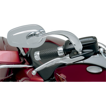 Russ Wernimont Convex Contoured Mirrors for Harley - Chrome