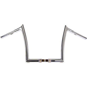 "Fat Baggers 1-1/4"" EZ Install Pointed Top 12"" Handlebars for 2015-2019 Harley Road Glide - Chrome"