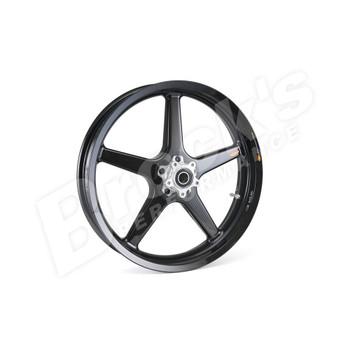 "BST 17"" x 3.5"" Black Star Carbon Fiber Front  Wheel for 2018-2019 Harley Fat Bob"