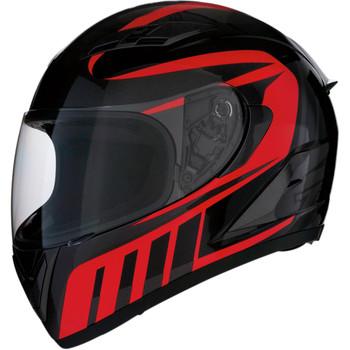 Z1R Strike Ops Attack Helmet - Black/Red