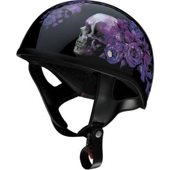 Z1R CC Beanie Half Helmet - Purple Nightshade