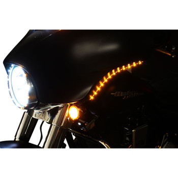 Custom Dynamics Batwing Low-Profile LED Fairing Trim for 2006-2013 Harley Touring