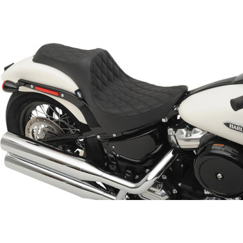 Drag Specialties Predator III Seat for 2018-2020 Harley Softail* - Double Diamond Black