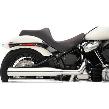 Drag Specialties Predator III Seat for 2018-2020 Harley Softail* - Double Diamond Red