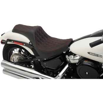 Drag Specialties Predator III Seat for 2018-2019 Harley Softail* - Double Diamond Red