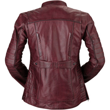 Z1R Women's 410 Merlot Leather Jacket