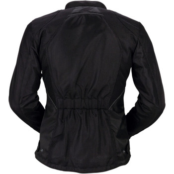 Z1R Women's Gust Mesh Waterproof Jacket - Black