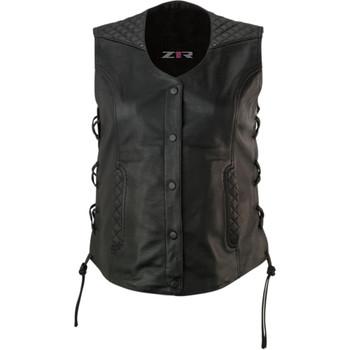 Z1R Women's Gaucha Leather Vest