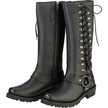 Z1R Women's Savage Leather Boots - Black