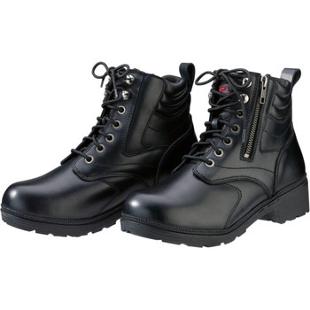 Z1R Women's Maxim Leather Boots - Black