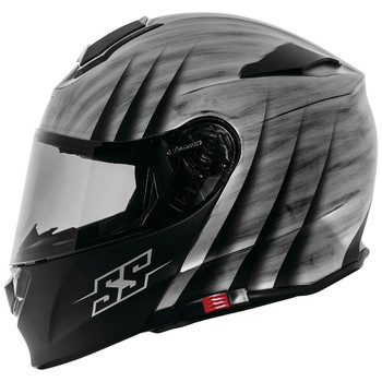 Speed and Strength SS4100 Spikes Modular Helmet - Silver