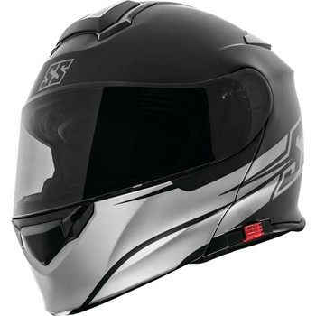 Speed and Strength SS4100 SS Logo Modular Helmet - Satin Black