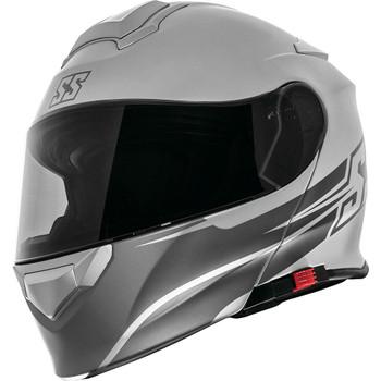 Speed and Strength SS4100 SS Logo Modular Helmet - Satin Silver