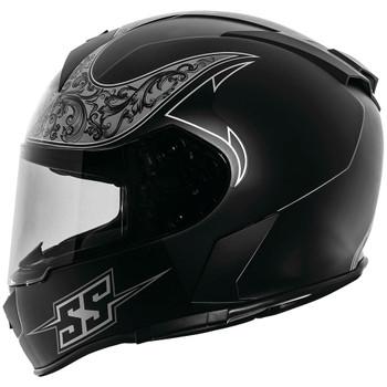 Speed and Strength SS900 Scrolls Helmet - Black/Gray