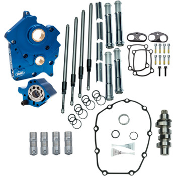 S&S Chain Drive Camchest Kit for Harley M8 Oil-Cooled - Chrome
