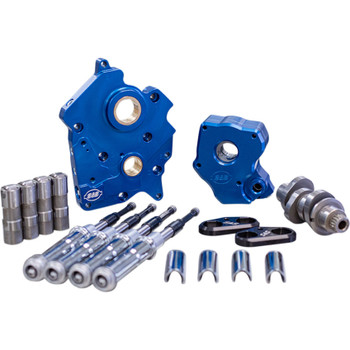 S&S Chain Drive Camchest Kit for Harley M8 Twin-Cooled - Chrome