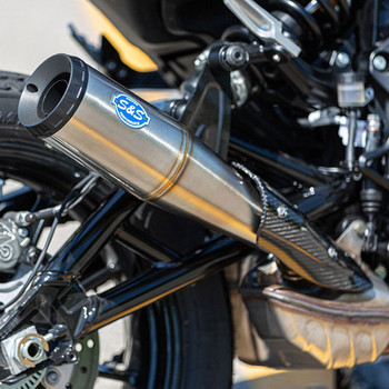 S&S Grand National Slip-On Exhaust Muffler for Indian FTR 1200