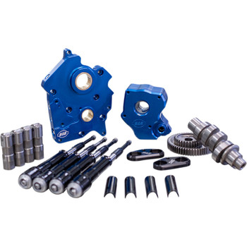 S&S Gear Drive Camchest Kit for Harley M8 Oil-Cooled - Black