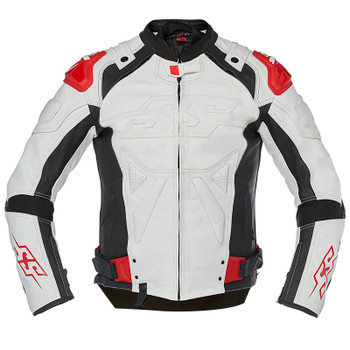 Speed and Strength Revolt Leather Jacket - White/Black/Red
