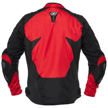 Speed and Strength Insurgent Leather/Textile Jacket - Red/Black