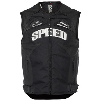 Speed and Strength Insurgent Leather/Textile Vest - Black