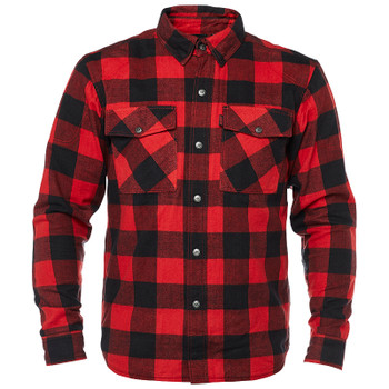 Speed and Strength Dropout Armored Moto Flannel Shirt - Black/Red